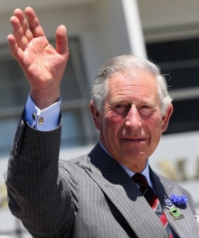 HRH The Prince of Wales wears his cufflinks